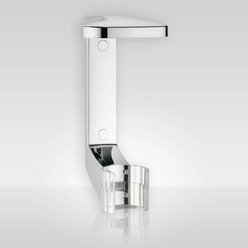 press + wash - Cliphalterung in Chrom, zum Kleben