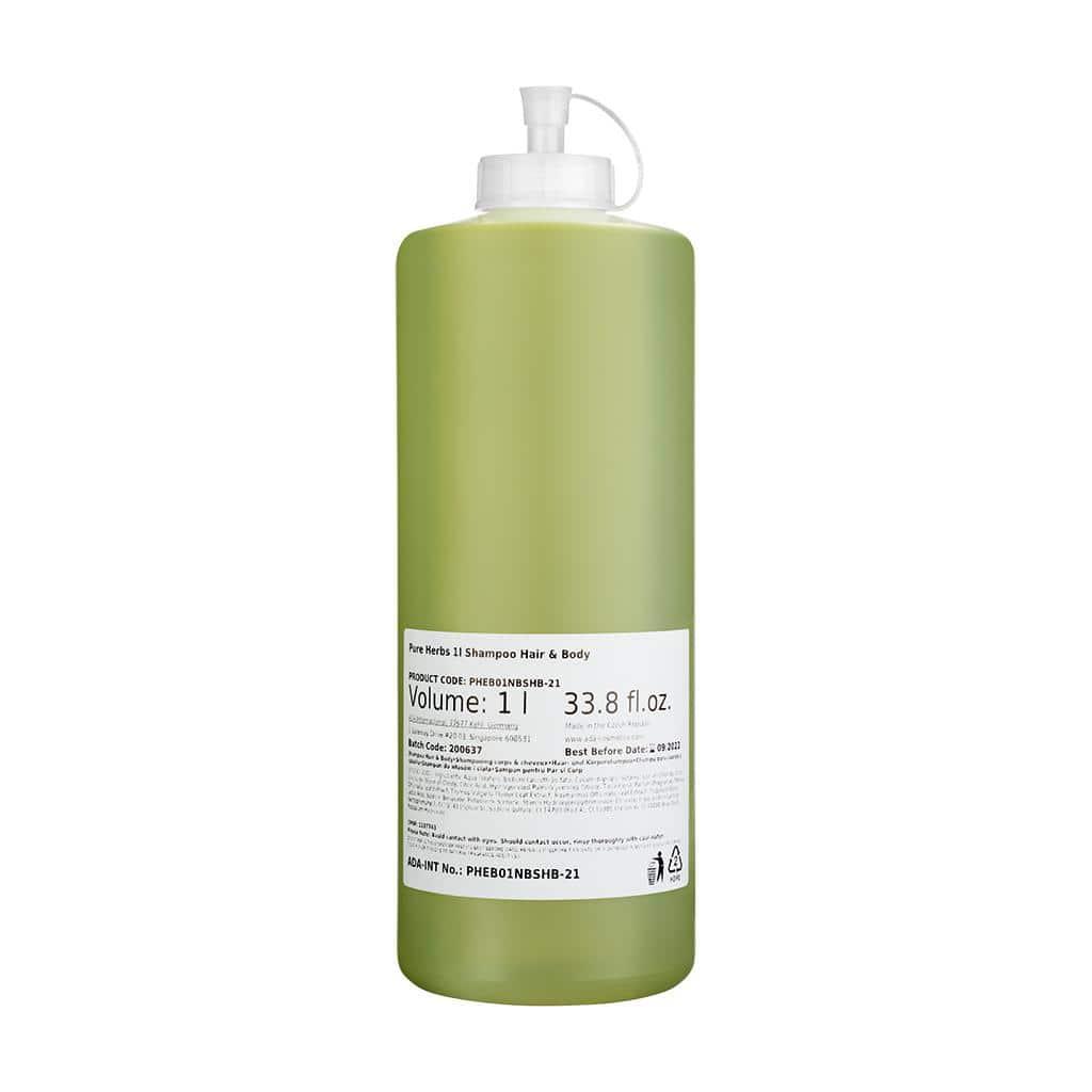 PURE HERBS - Haar- und Körperseife, 1 Liter, Nachfüllpack