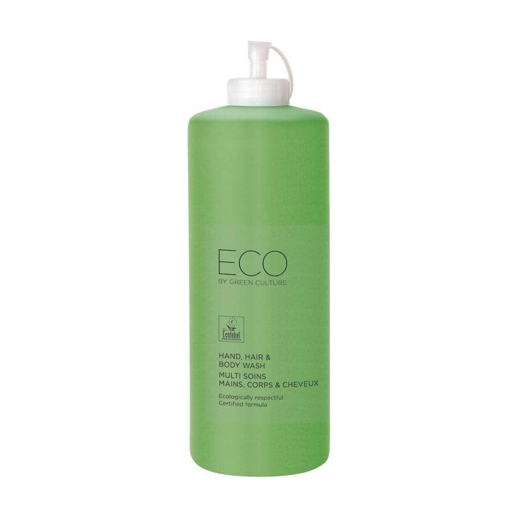 ECO by Green Culture - Milde Seife für Hände, Haar und Körper, mit Ecolable-Zertifikat, 1 Liter, Nachfüllpack