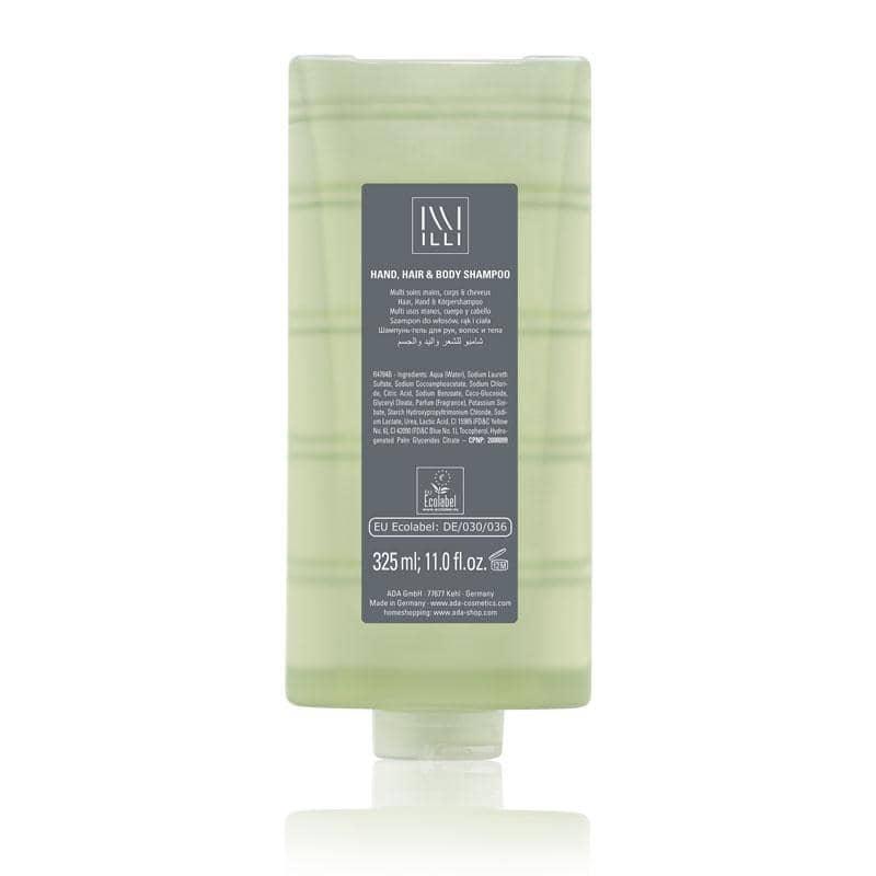 ILLI 1 - Praktisches 3-in1: Haar-, Hand und Körperseife, Kartusche mit Ecolabel, 325ml