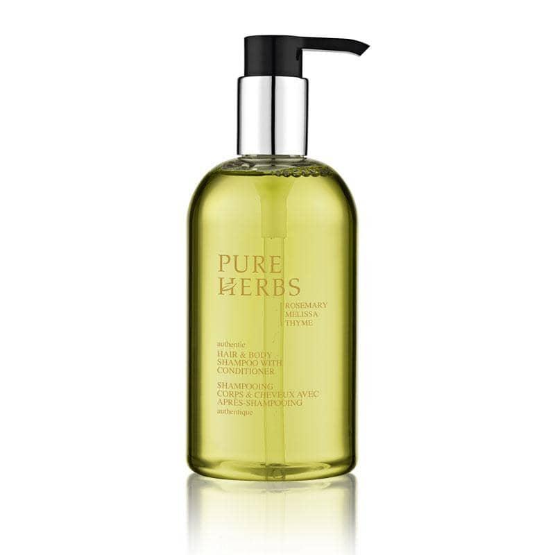 PURE HERBS - Körper- & Haarshampoo mit Conditioner im Pumpspender, 300 ml