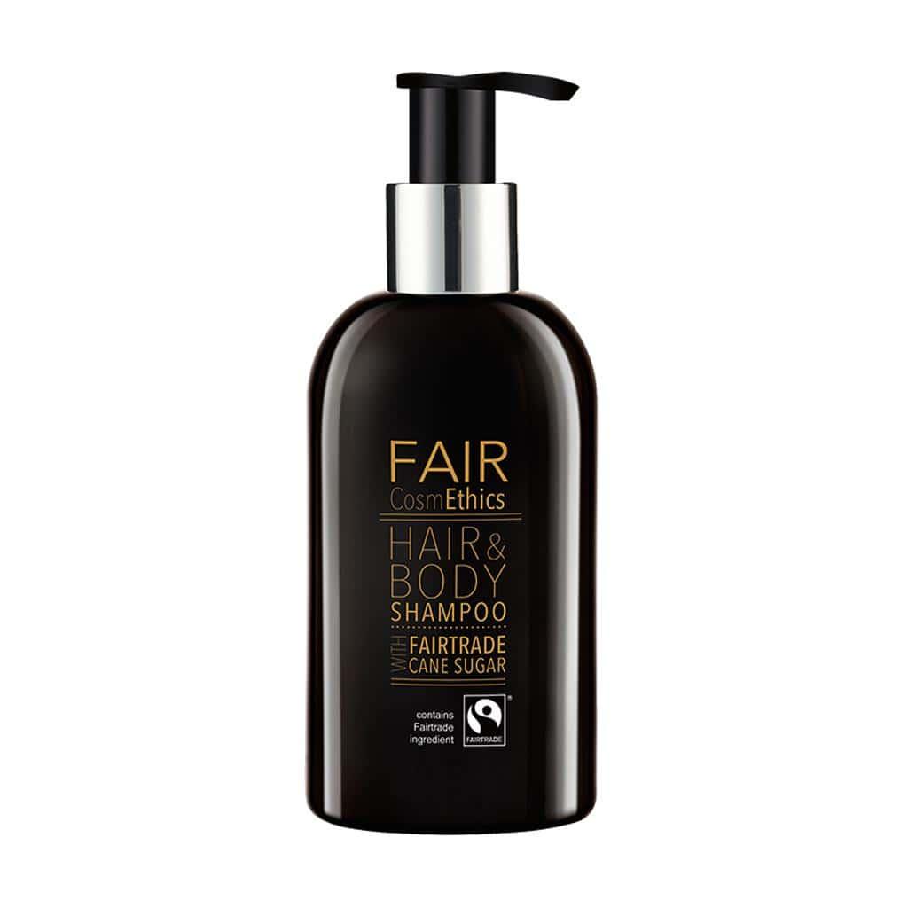 FAIR CosmEthics - Fairtrade Hair & Body Shampoo, Pump Dispenser, 300ml